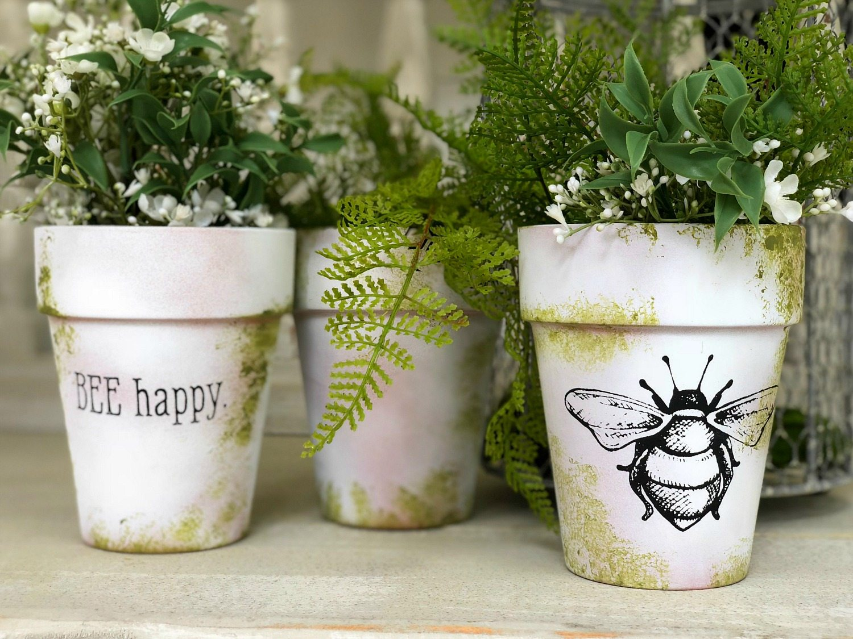 Bee Happy Clay pot DIY