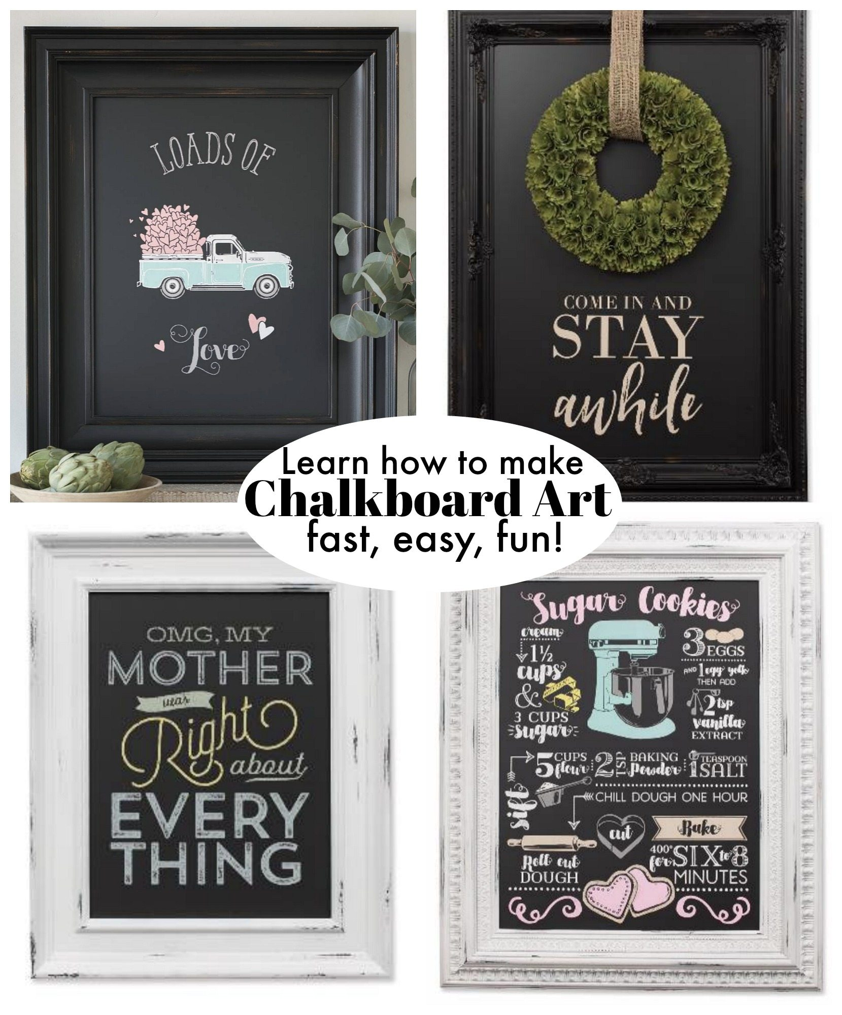 Learn how to create Chalk art made easy! Chalk Couture