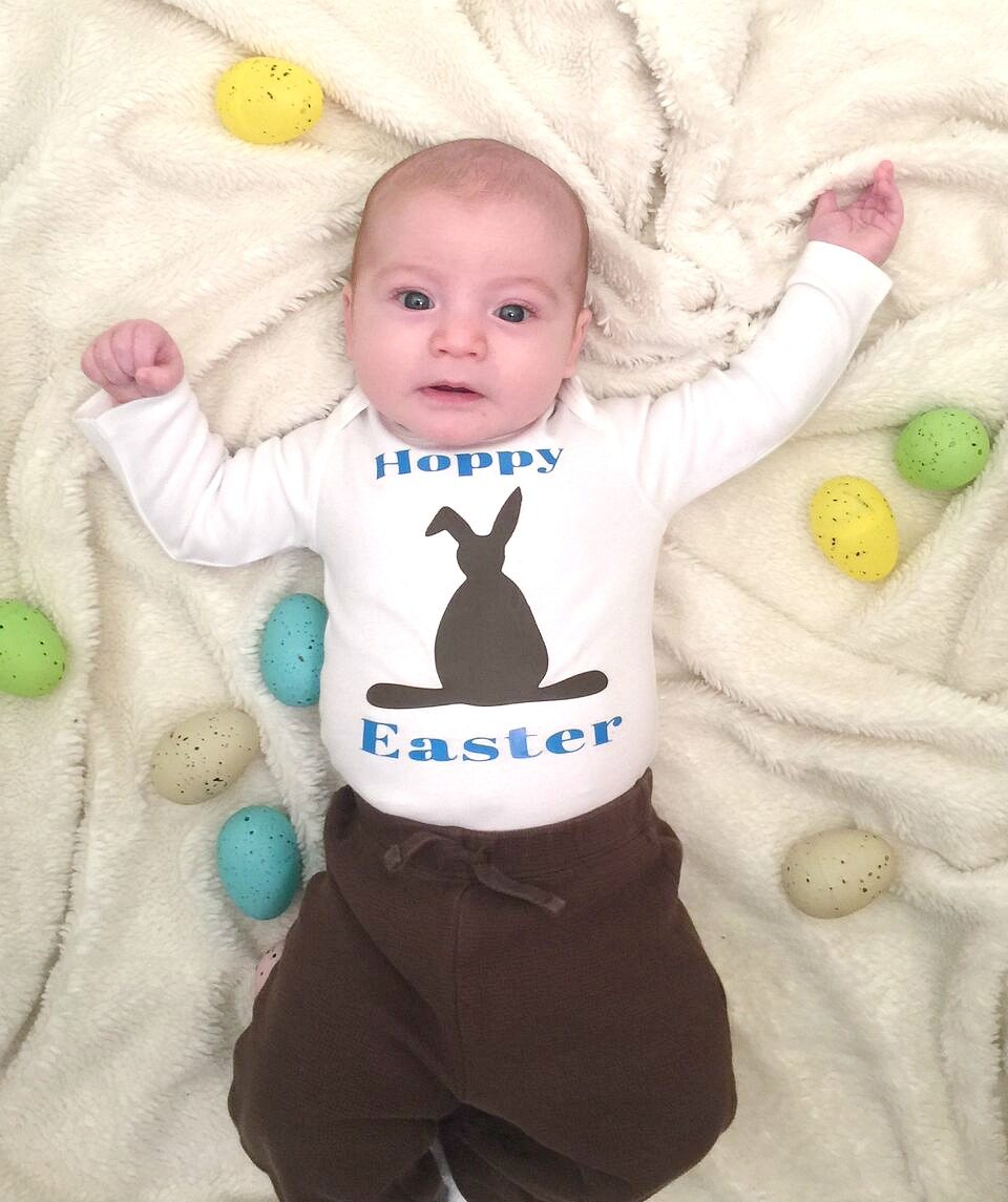 Chocolate bunny shirt vinyl idea