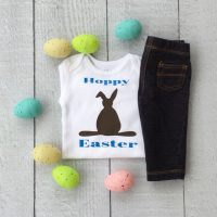 Cute chocolate bunny idea - Vinyl project with Cricut