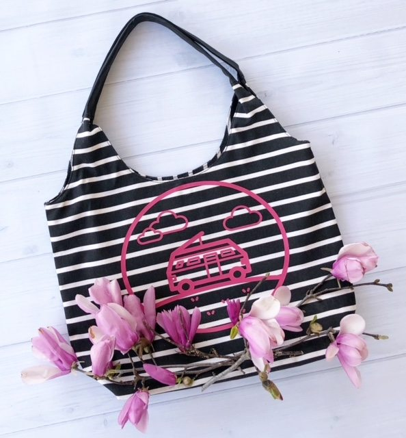 Cute Overnight Spring bag with Cricut design