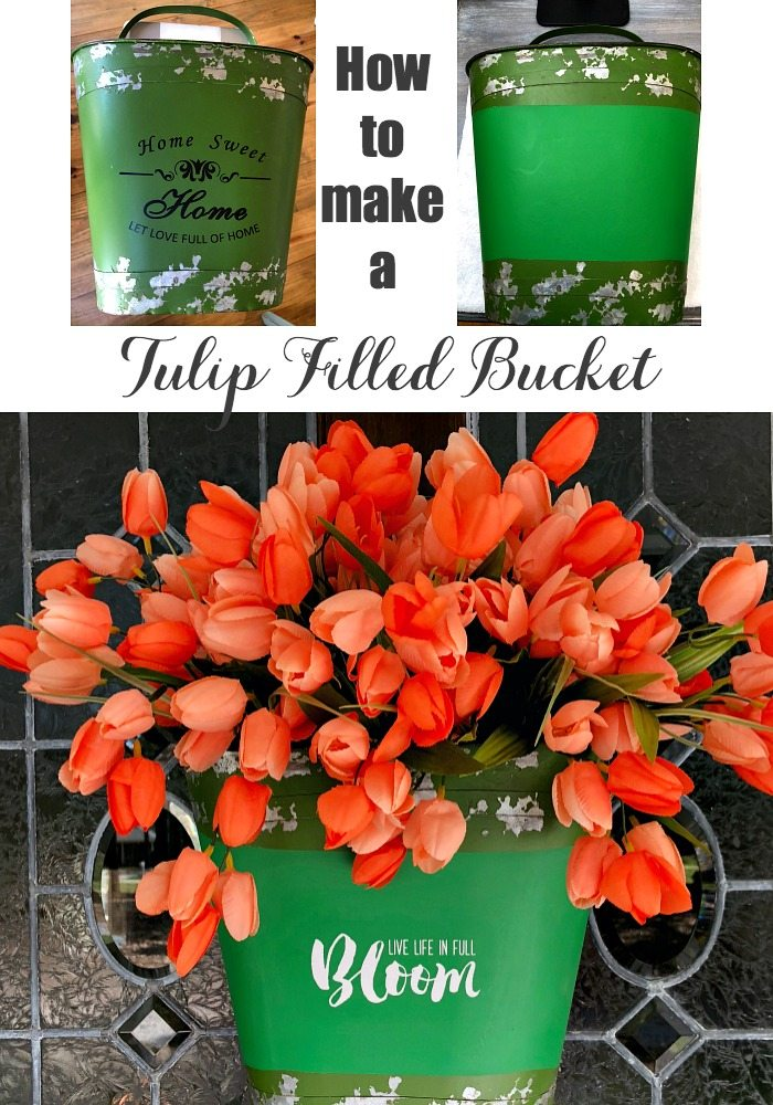 Tulip filled bucket