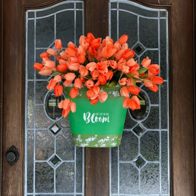 Tulips on the door