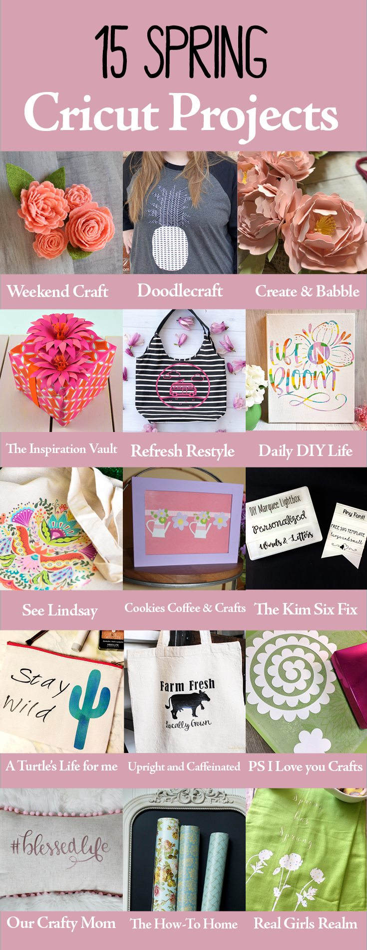 15 Spring Cricut ideas