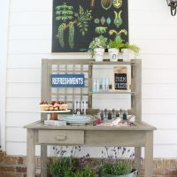 BHG Potting Bench For Refreshments