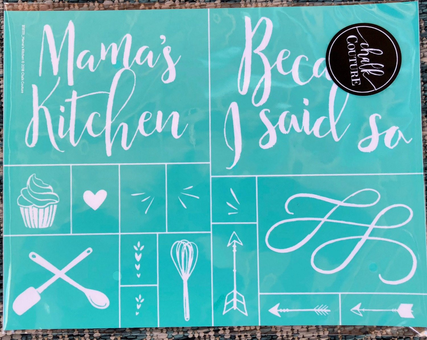 Chalkboard art for the kitchen! Mama will love it! Fast and easy