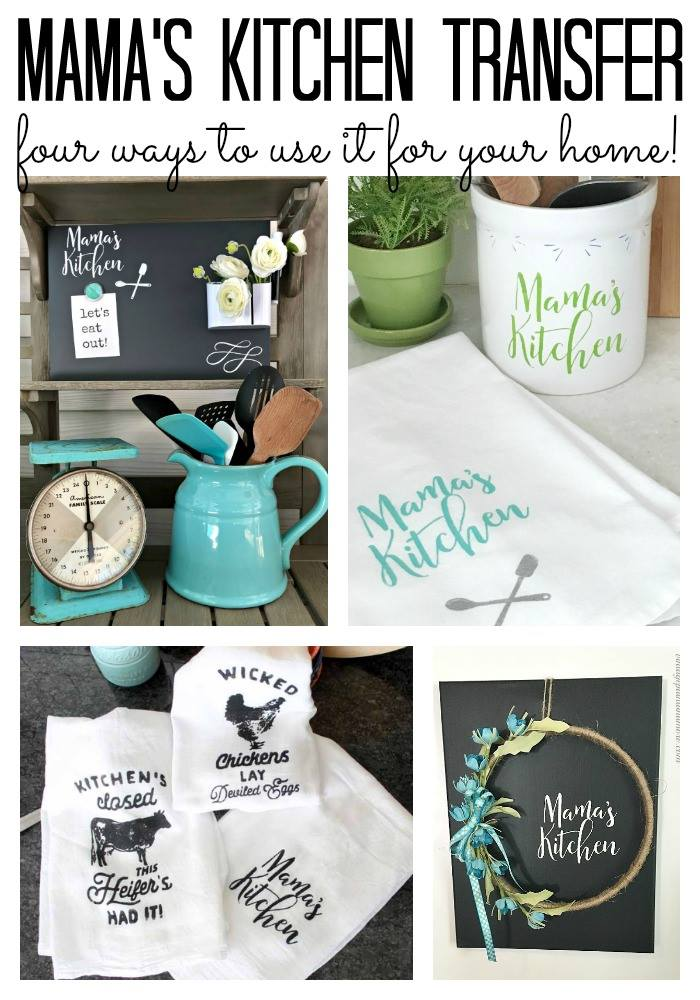 Chalkboard idea with Chalk Couture Mamas Kitchen