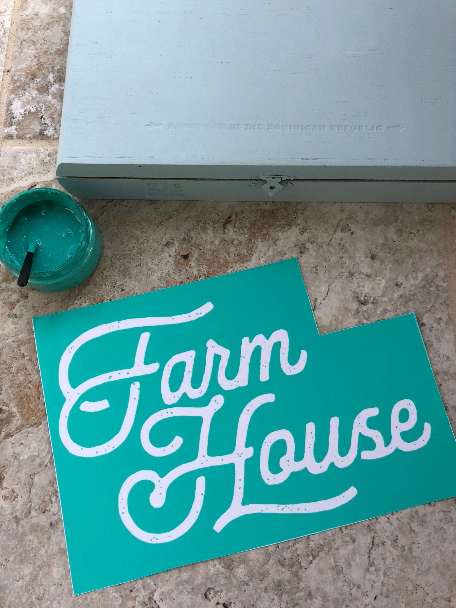 Farm House Chalk Couture Silk Screen Transfer