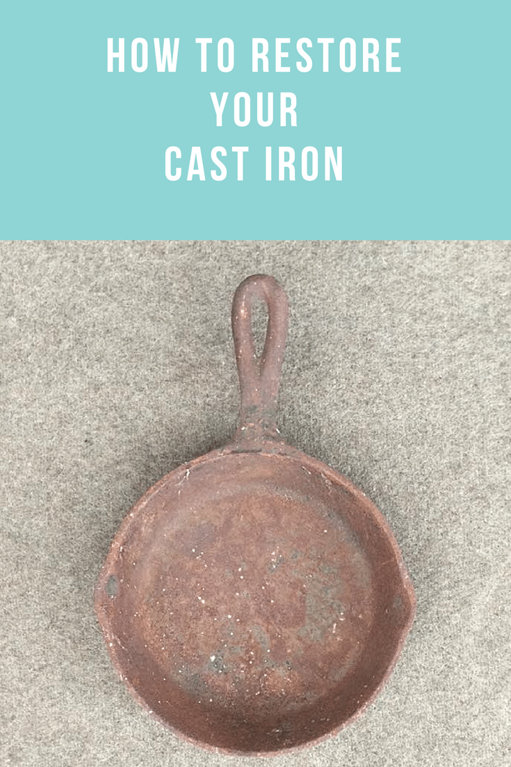 Easy step by step directions on how to restore cast iron. Vintage Cast Iron has been growing in popularity for years now.  It seems that as far as cookware goes, people are realizing that cast iron is healthier and tastes better than modern cookware.  In addition, there is also a huge market for cast iron as collectibles!