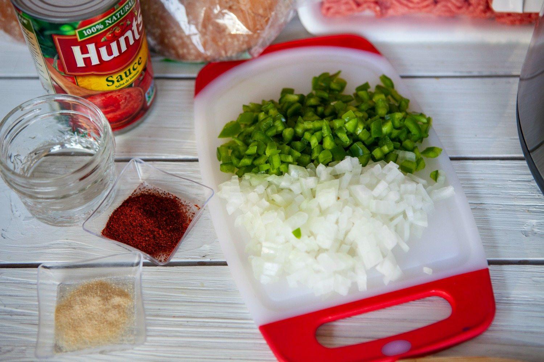 Prep veggies for Instant pot sloppy joes