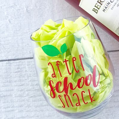 Wine glass for teacher