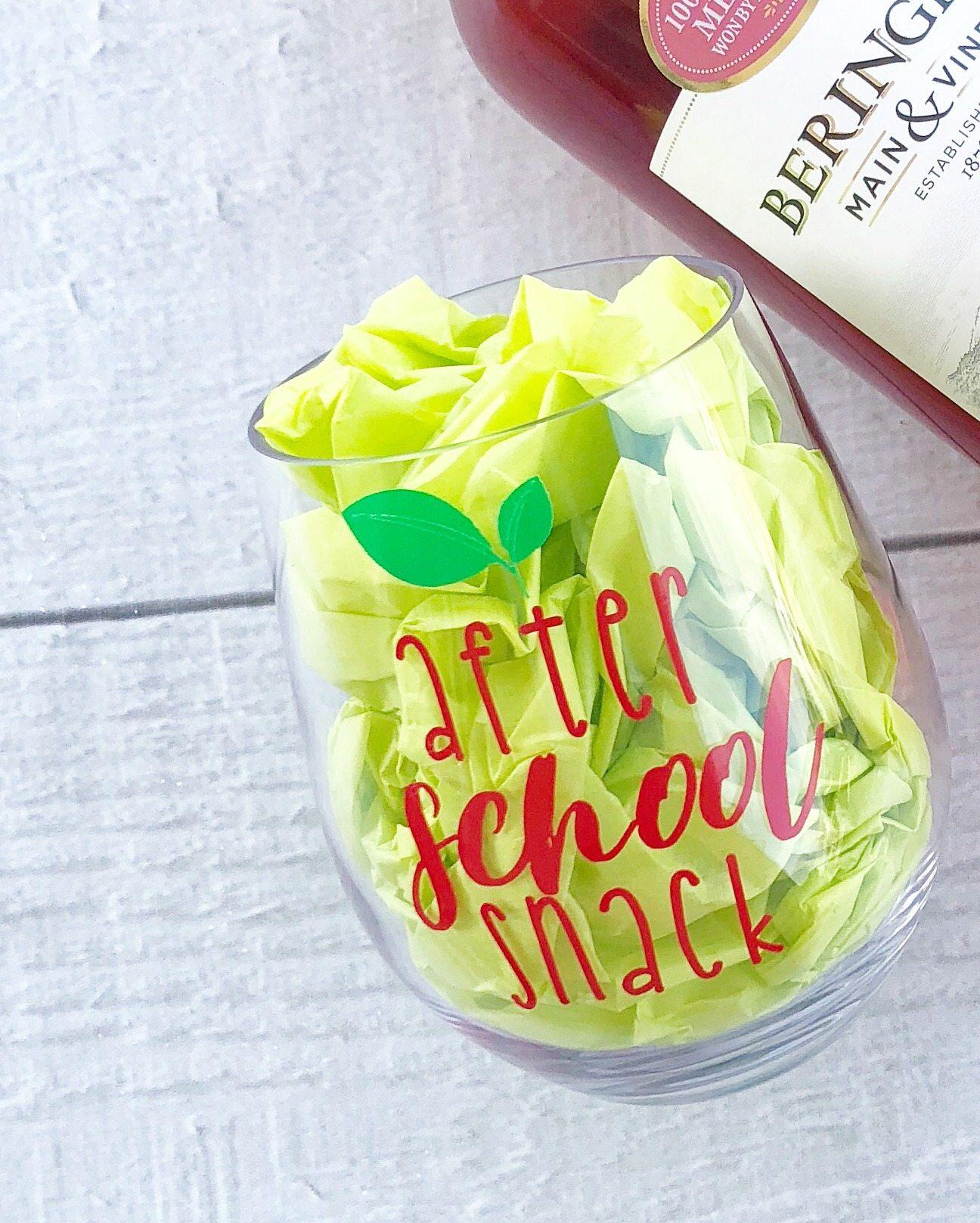 Wine glass for teacher