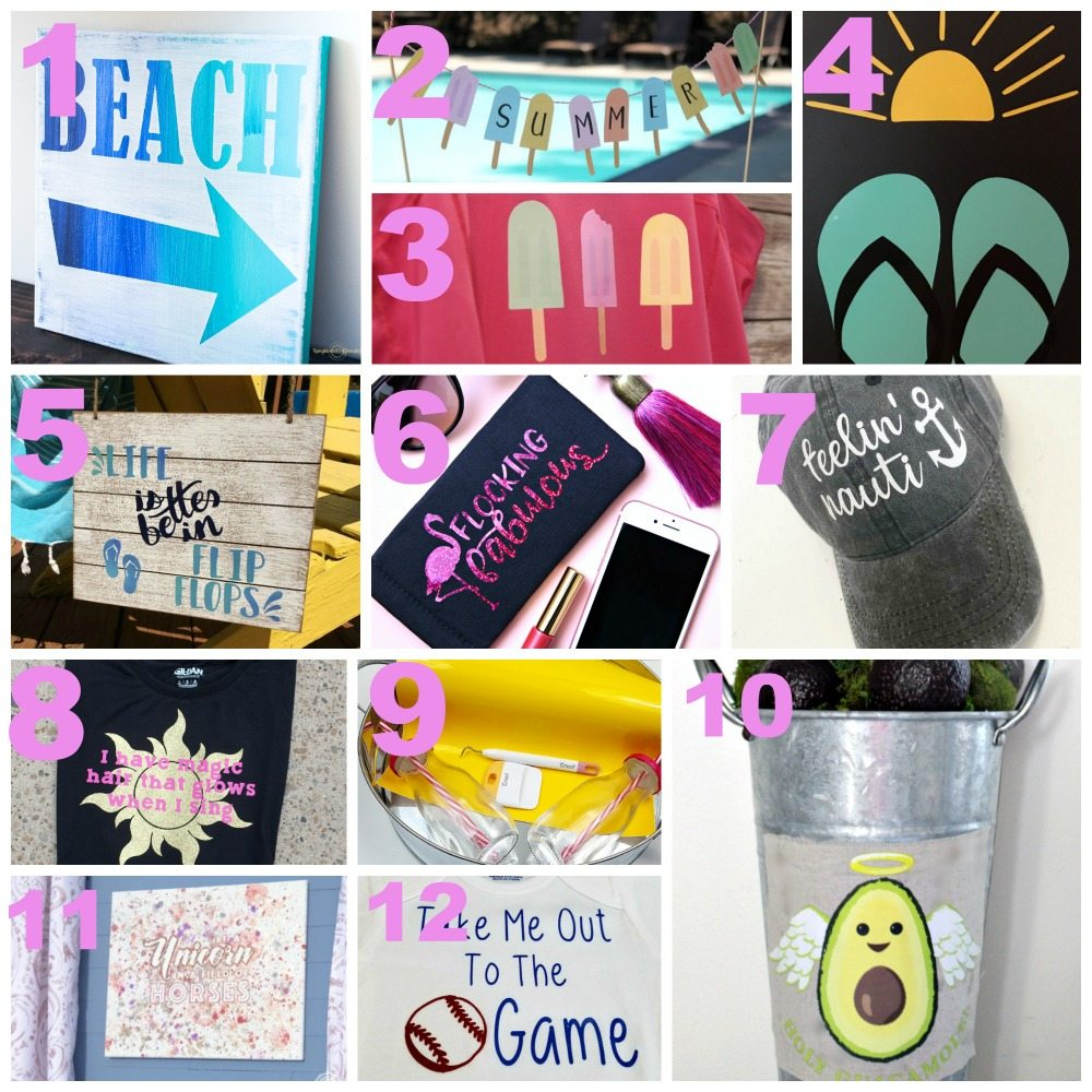 Fun summer projects to make with your Cricut!