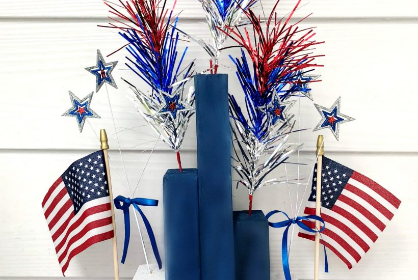 2x4 4th of july centerpiece
