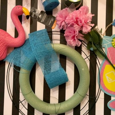 How to Make a Flamingo Wreath