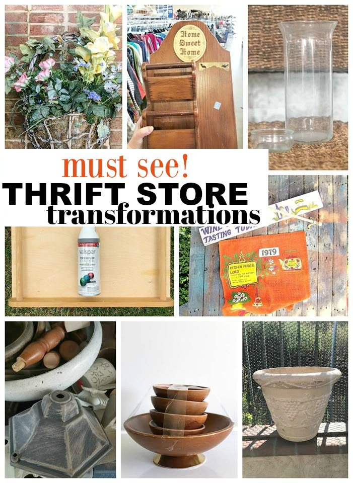 Must see ideas for all these Thrift Store Items!