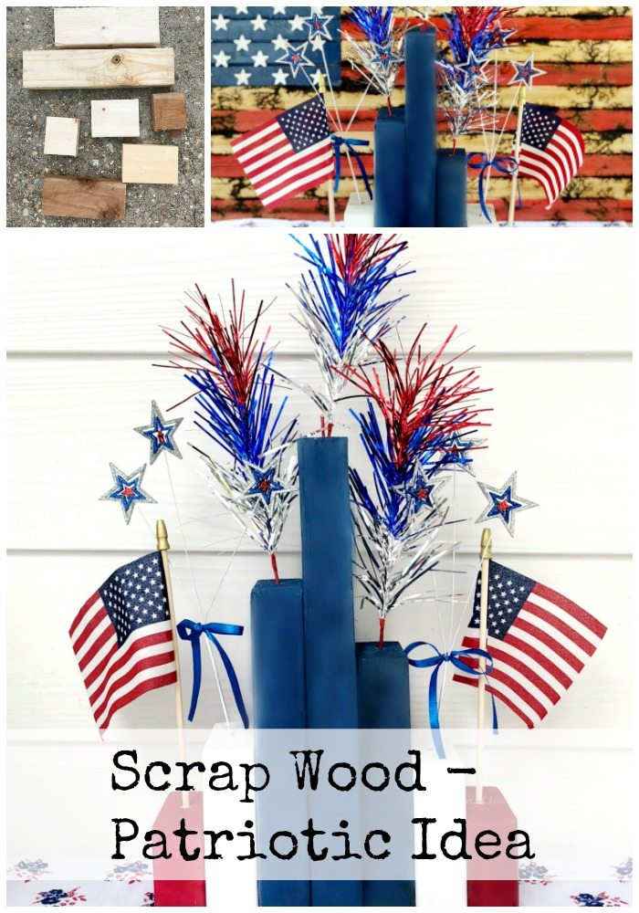 Simple Centerpiece for 4th of July