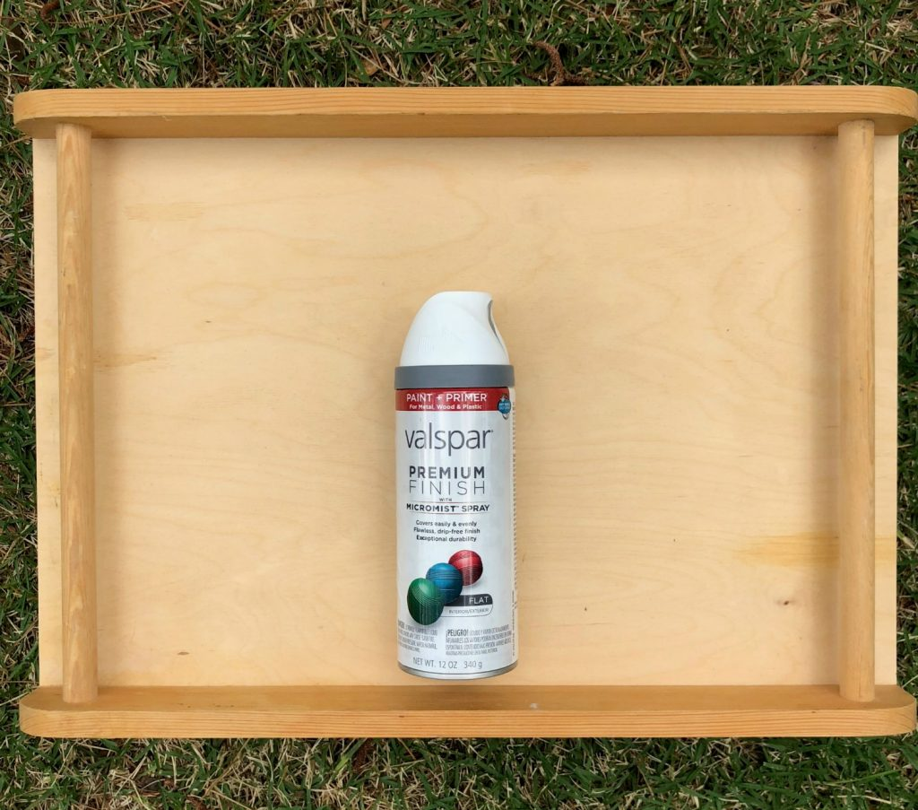 Thrift Store Tray Makeover - Easy DIY tray for patio