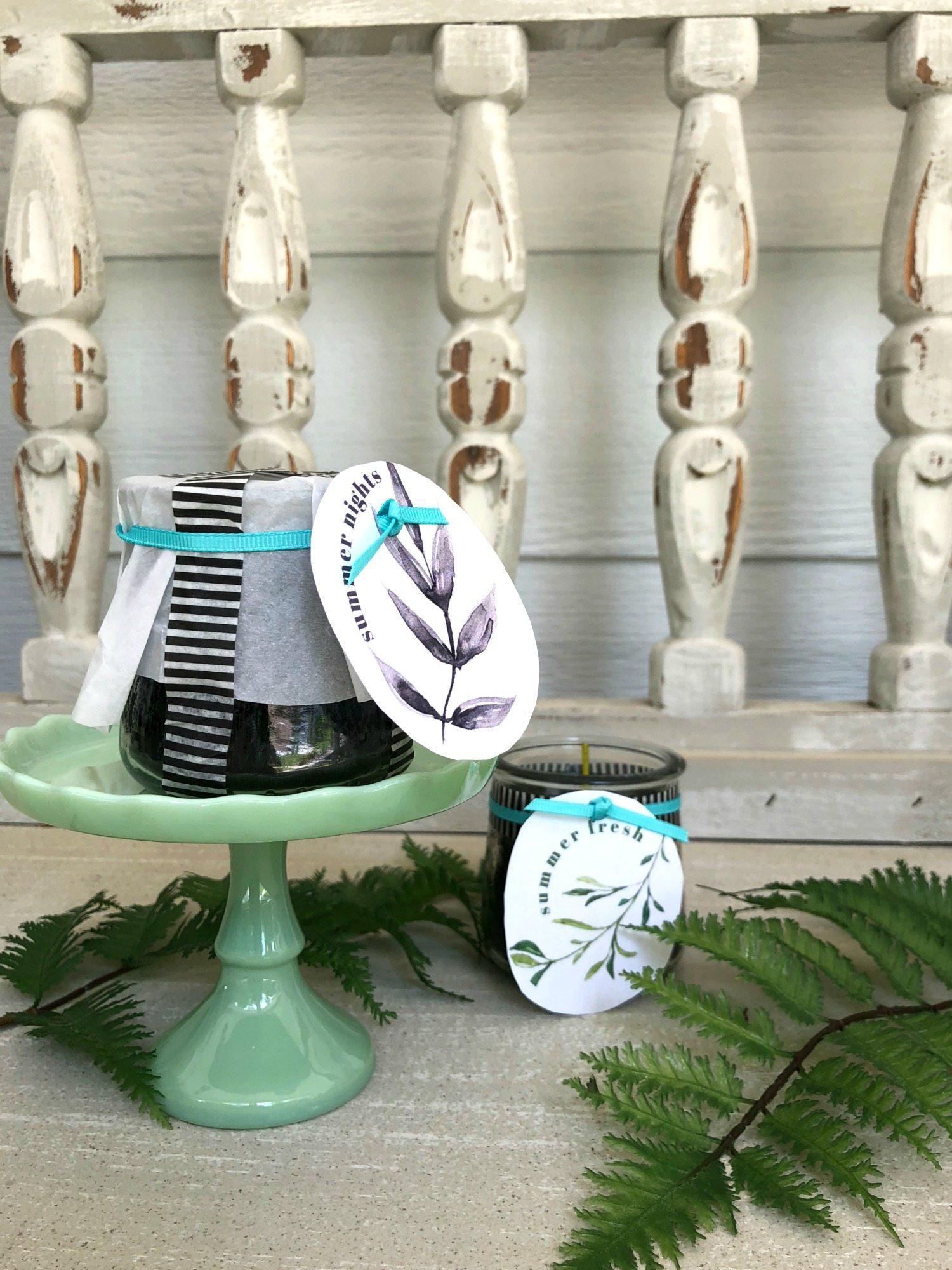 Yogurt jars with free printable
