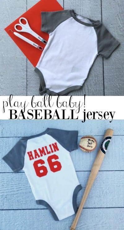 baby baseball jersey idea