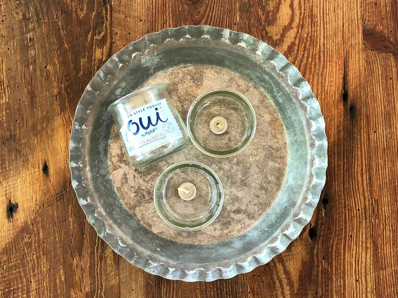 cute yogurt jars recycled