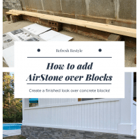 Cement Blocks covered with AirStone