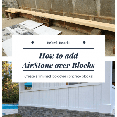 How To Add AirStone to Block Foundation