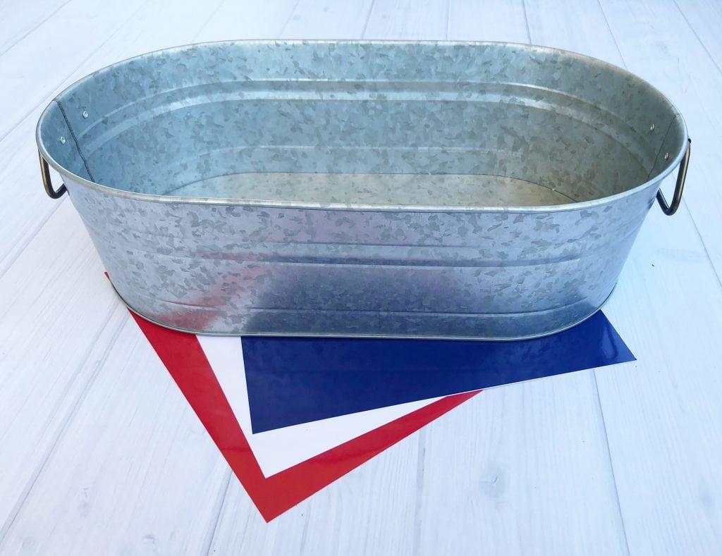 Galvanized Tub Patriotic idea