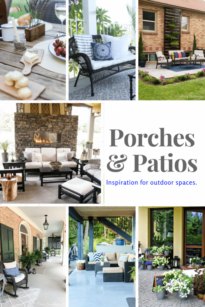 Porches and Patios -- Welcome to the popular Inspiration Monday Party! Come visit and be inspired with fabulous home decor, crafts, recipes and more!