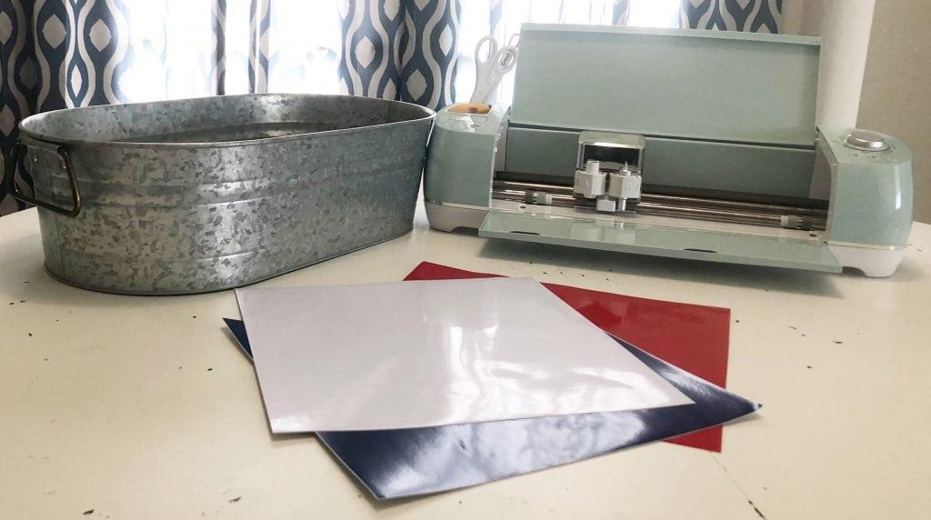 Vinyl for a galvanized tub