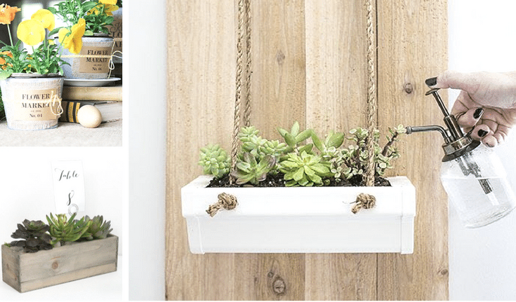 DIY Rustic Planters Ideas