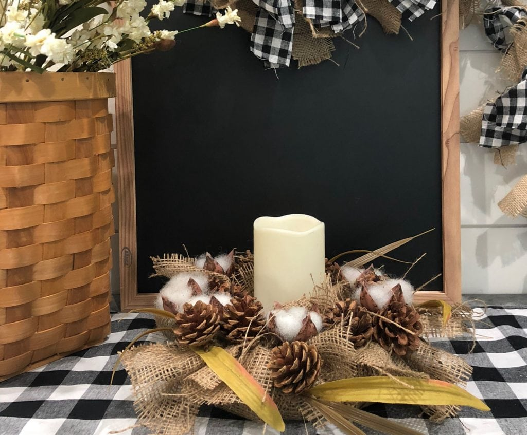 Farmhouse decor from the dollar store