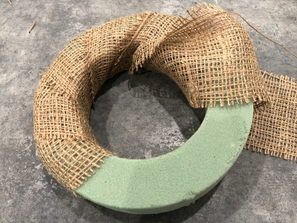 wrap with burlap