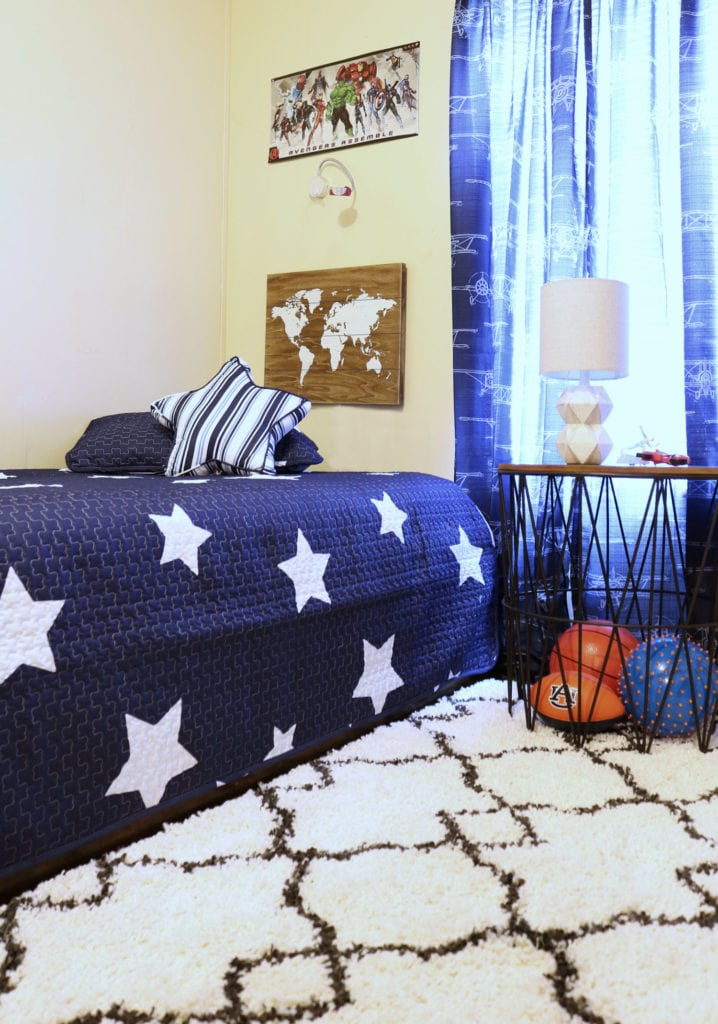 Boys room bedding