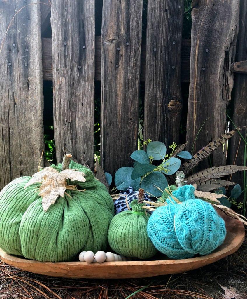 DIY Goodwill sweater Pumpkin