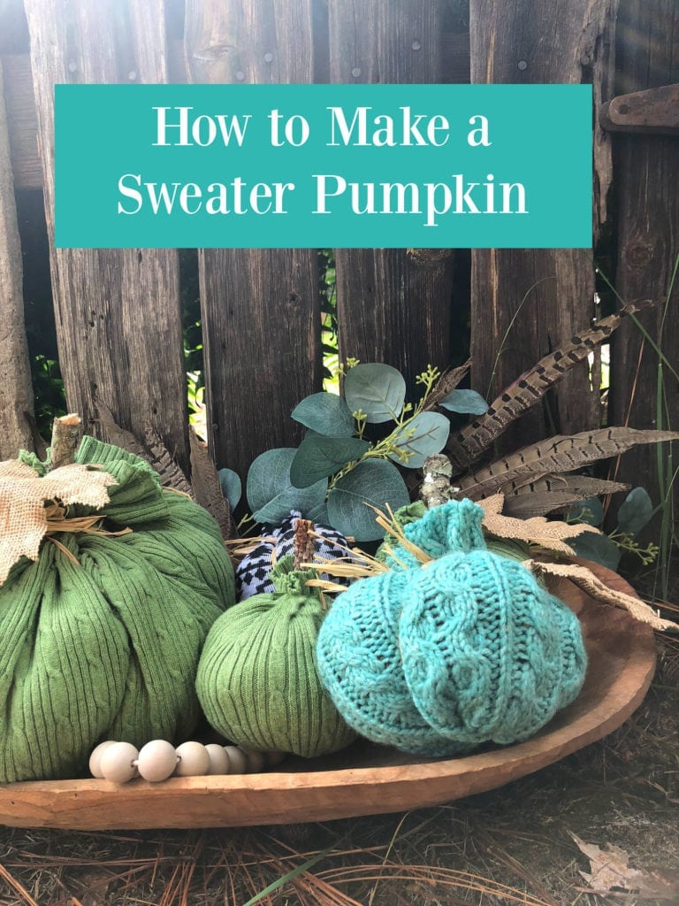 Easy DiY make a sweater pumpkin