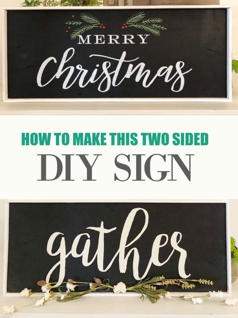 How to make a two sided sign