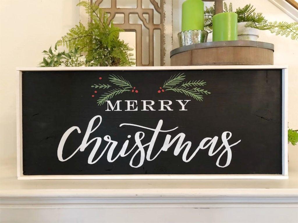 Make this DIY Christmas sign