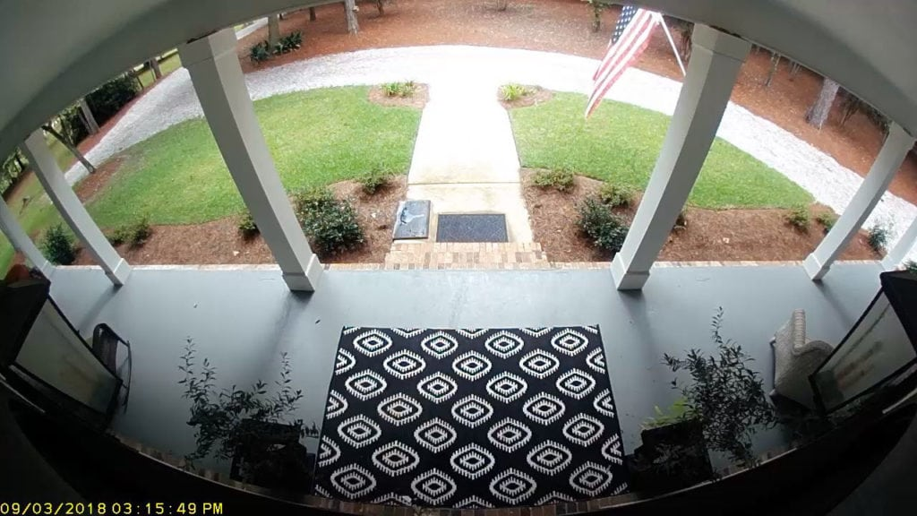 Front entrance view of camera - wireless monitoring for outside