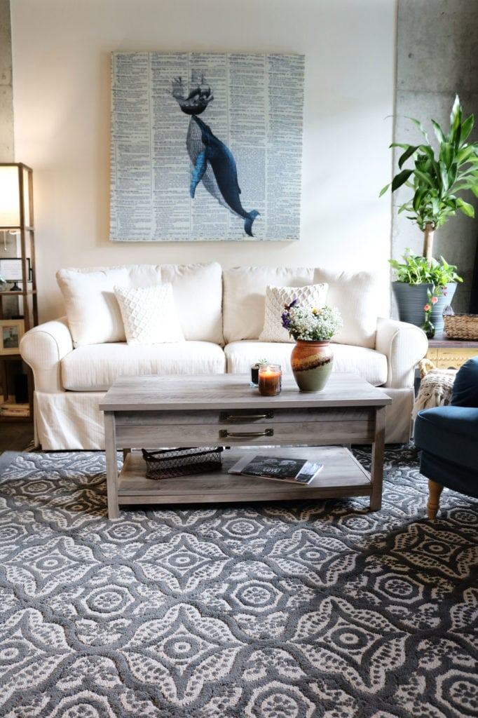 Living Room Rug - warm up your space with this affordable BHG rug.