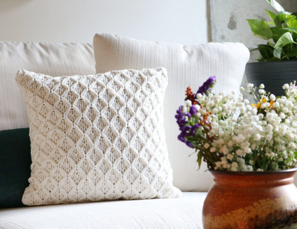 Pillow from BHG - neutral sweater pillow