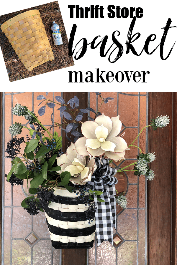 Thrift store basket makeover idea