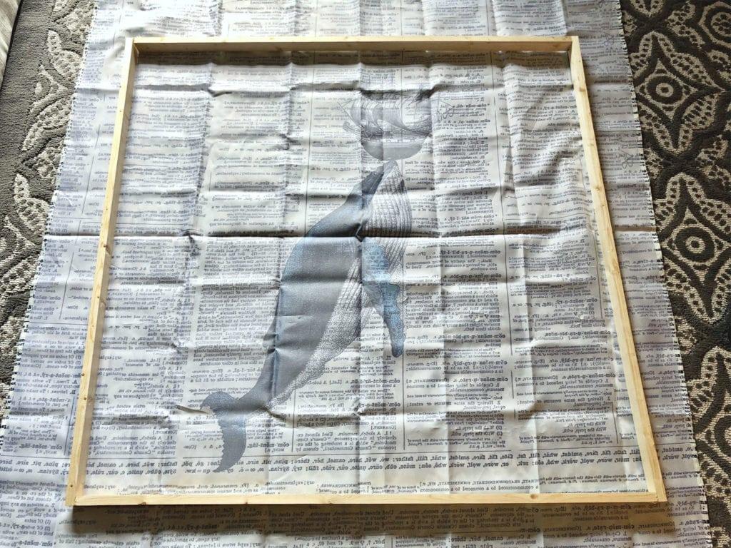 Whale shower curtain art