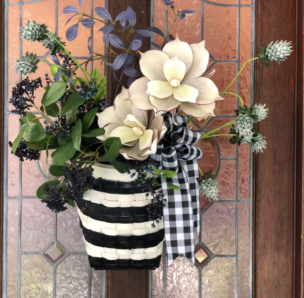 Easy DIY basket for front door.