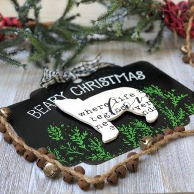 DIY Metal Christmas Sign