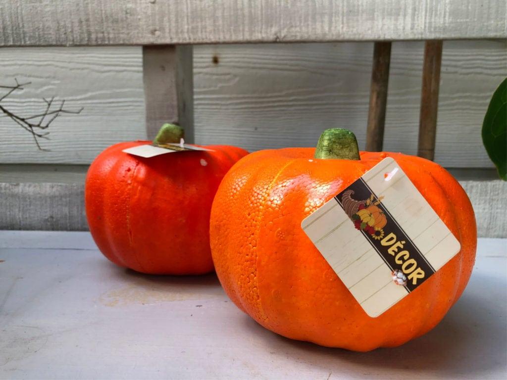 Dollar Store Foam Pumpkins - Craft Ideas