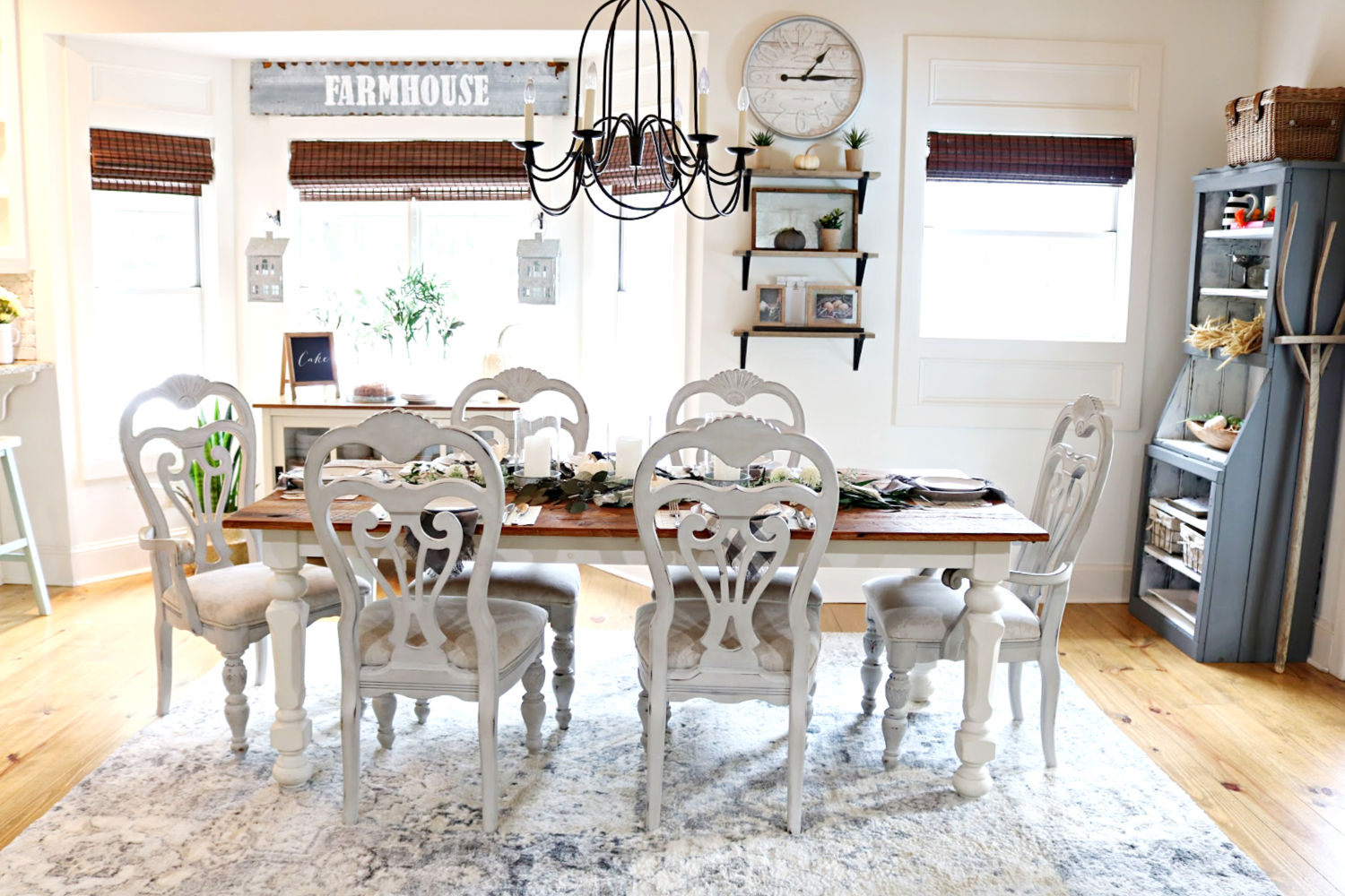 Farmhouse dining room refresh after