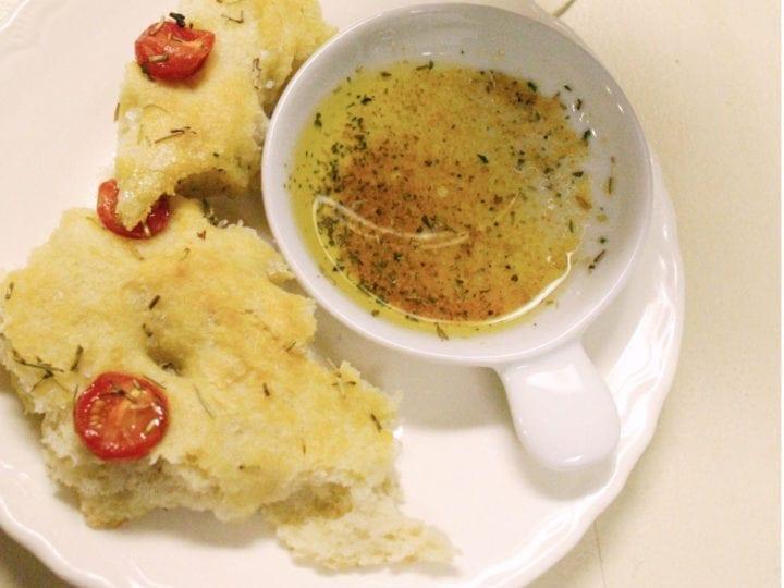 Fresh focaccia bread recipe