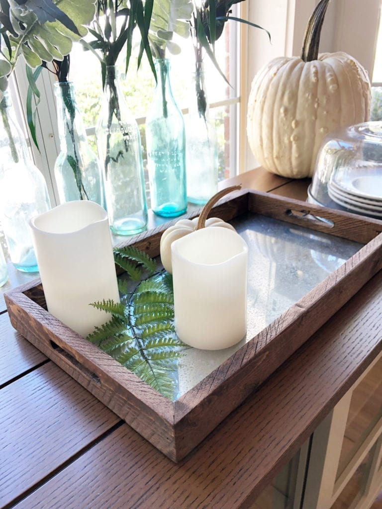 Mercury mirrored tray - perfect for a rustic farmhouse touch