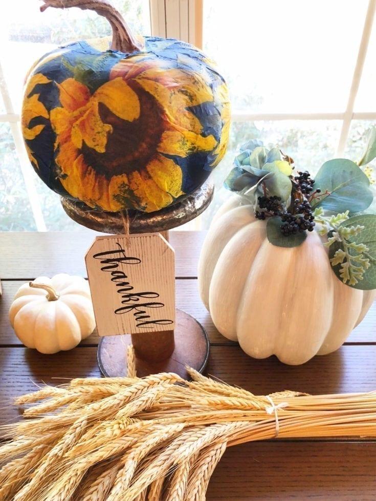 Foam Pumpkins Crafts
